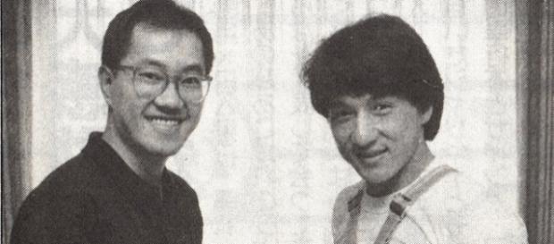 En 1985 Jackie Chan se disfrazó de uno de los personajes de Akira Toriyama, para una película