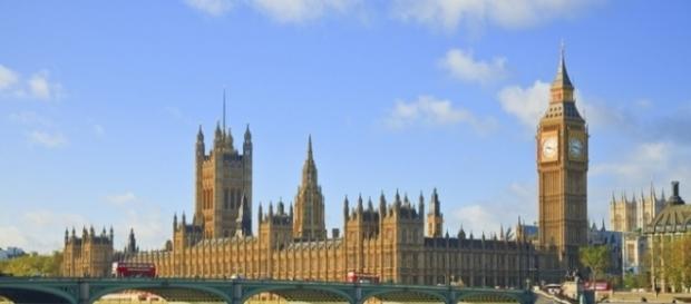 Il Palazzo di Westminster, sede del Parlamento britannico.