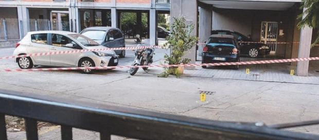 Il palazzo di via Pertusola, a Cagliari, dov'è avvenuto il delitto.