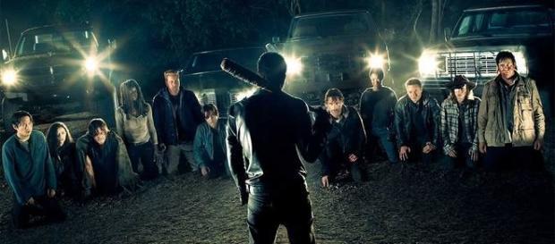 Immagine: il gruppo di Rick accerchiato dai Salvatori.