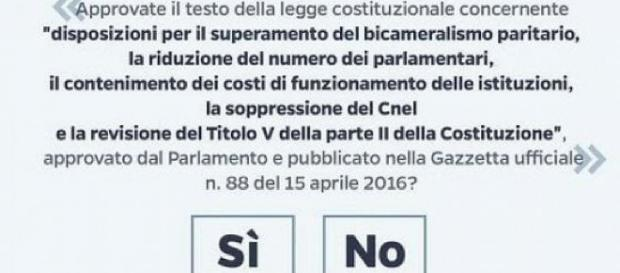 Referendum costituzionale, la scheda del 4 dicembre - Repubblica.it - repubblica.it