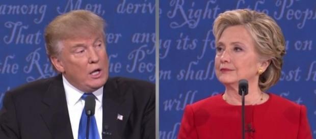 Trump e Hillary Clinton candidati alle presidenziali Usa si sono affrontati senza esclusione di colpi