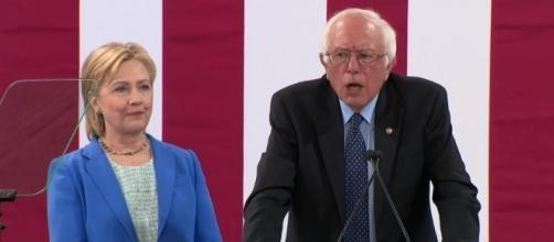 Bernie Sanders endorses Clinton after she makes concessions. YouTube (CSPAN-screencap)