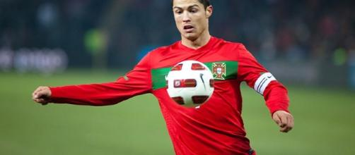 Cristiano Ronaldo, playing for Portugal. Picture Ludovic Péron, Wikimedia