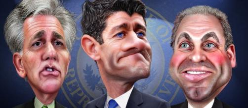 Flickr, Donkey Hotey image of House Republican Leaders
