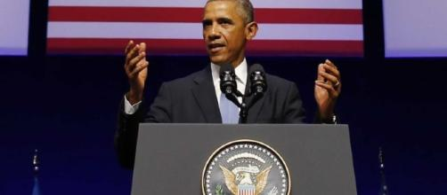 President Barack Obama holds forth