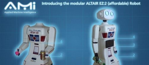 Tony Ellis invented the ALTAIR robot and is programming it to be a companion to humans. / Photo via Tony Ellis, Applied Machine Intelligence Ltd.