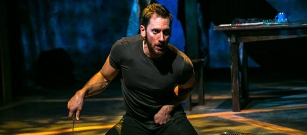 Derek Wilson as the murderous, deformed Richard III. Photo: Jerry Dalia, The Shakespeare Theatre of New Jersey, used with permission.