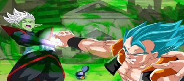 La fusión de Zamasu y Black VS Gogeta en un fan art