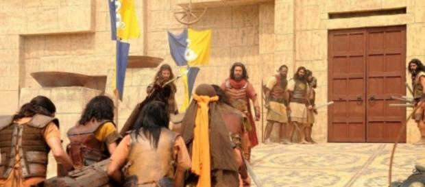 Record precisou mobilizar centenas de profissionais para as cenas da invasão a Jericó