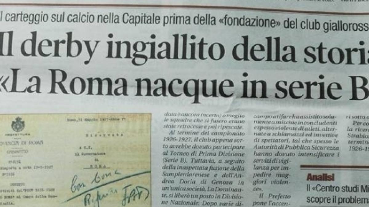 La Nuova Scoperta Roma Nata In Serie B Il 31 Maggio 1927