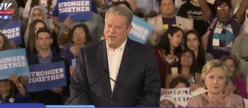 Al Gore stumps for Hillary Clinton at a climate rally in Miami. YouTube (FOX 10 Phoenix-screencap)