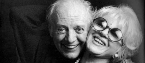 Dario Fo, in una bella immagine insieme alla moglie Franca Rame, scomparsa nel 2013