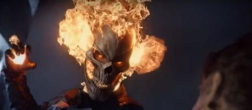 "Ghost Rider (Gabriel Luna) in ""Agents of SHIELD""/Photo via screencap, ""Agents of SHIELD"""