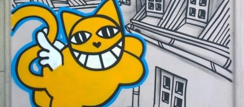Le sourire gigantesque de Monsieur Chat sévit en France.