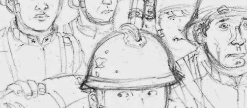 Porzione di uno dei disegni del fumetto (Per gentile concessione dell'autore)