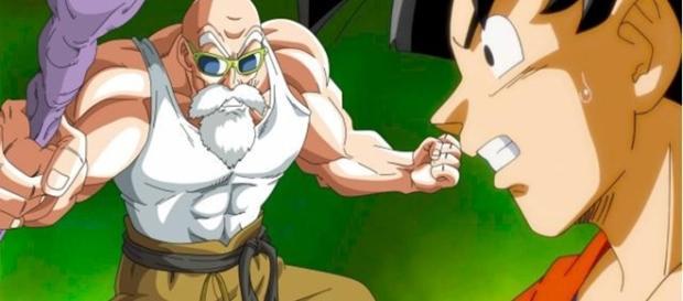 Goku aprendiendo el Mafuba DBS