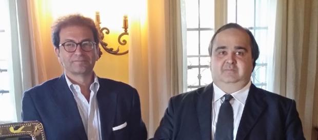 Il presidente Rigoli ed il vicepresidente Capaccioli