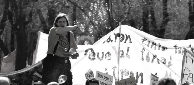 Manifestación por los derechos humanos en Madrid