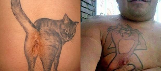 Tatuagens bizarras e engraçadas