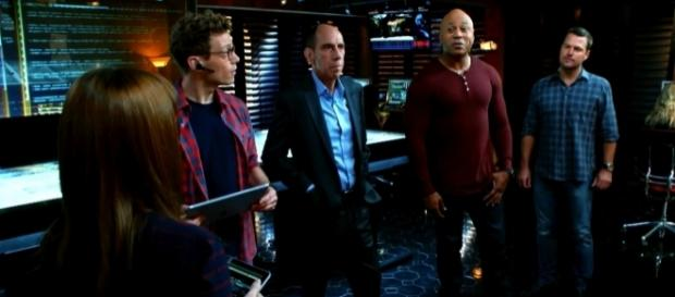 "The 'NCIS: LA' team in ""Black Market""/Photo via screencap, 'NCIS: LA'"