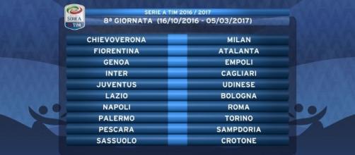 8° giornata Serie A Tim 2016/2017