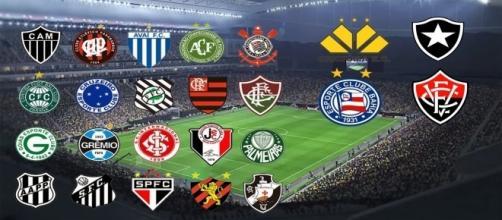 As probabilidades dos times no Brasileirão.