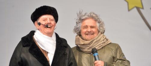 Dario Fo e Beppe Grillo, due grandi amici