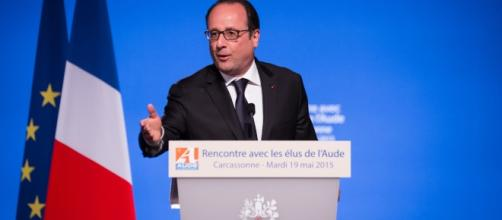 Francois Hollande à Caarcassone - opinion - CC BY