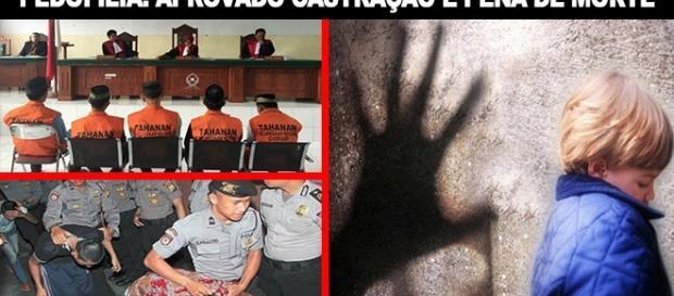 A castração química, execução e outras punições para pedófilos condenados na Justiça.