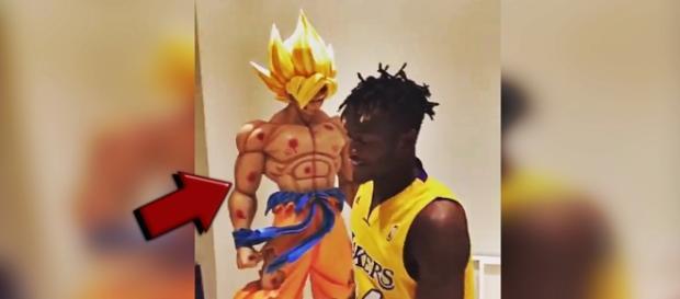 El joven jugador Belga no dudó en mostrar su enorme fanatismo por Dragon Ball.