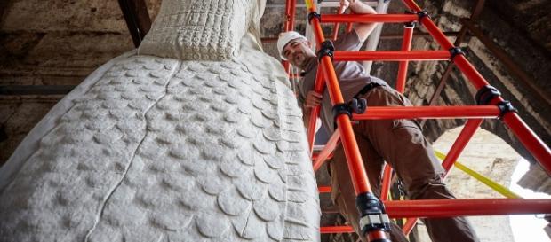 Esposte al Colosseo le copie in grandezza reale delle opere distrutte da Isis
