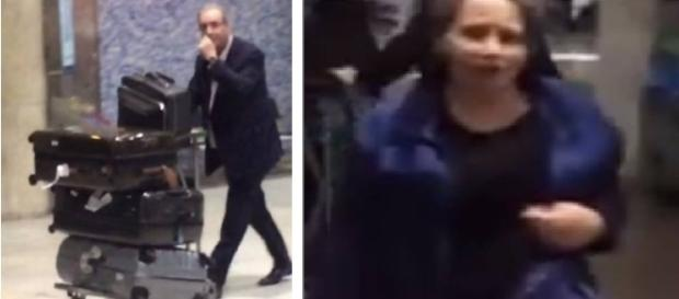 Mulher corre em disparada atrás de deputado - Foto/Montagem