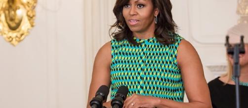 Michelle Obama in una conferenza