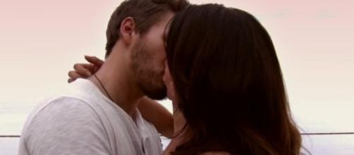 Steffy cheating with Liam kiss via YouTube CBS