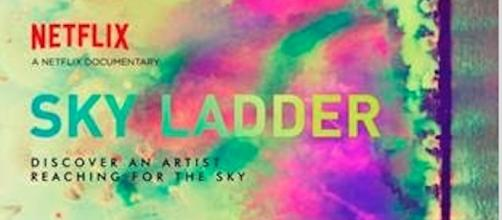 Theatrical poster for 'Sky Ladder: The Art of Cai Guo-Qiang' (courtesy of Netflix)