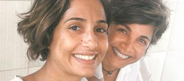 Camila com Edna Gomes, a assessora da Casa de Dom Inácio de Loyola.