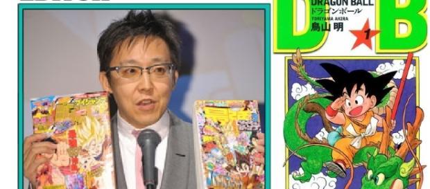 El director del departamento nuevo junto con el manga de DB numero 1