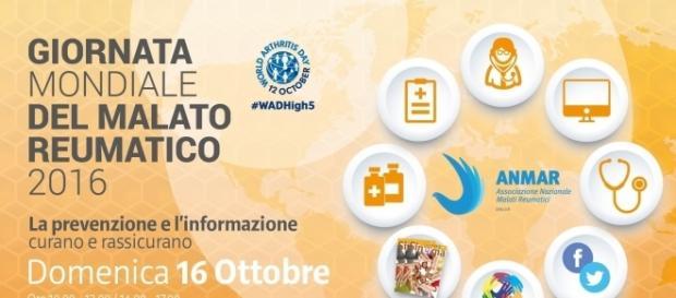 Giornata mondiale malato reumatico - visite gratis Roma 16 ottobre 2016