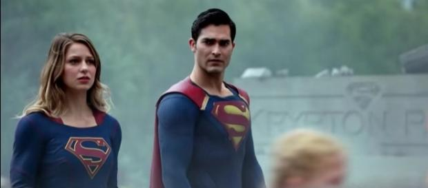 """Kara Danvers and Clark Kent in """"Supergirl""""/Photo via screencap, """"Supergirl"""""""