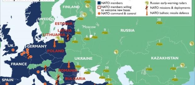 La Nato intende schierare 4.000 militari italiani nei paesi baltici, nei pressi dei confini tra Europa e Russia