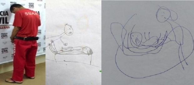 O desenho da criança mostra o que ela passava quando estava sozinha com o pastor