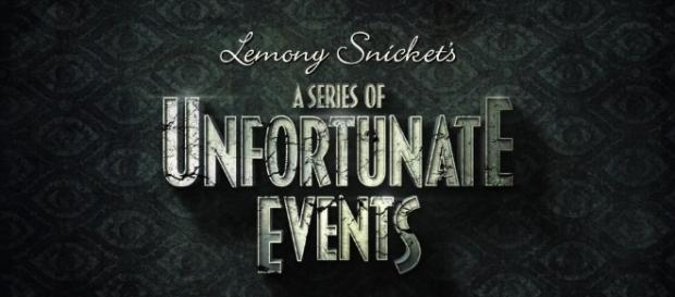 """The title card for the new series: """"A Series of Unfortunate Events."""" Photo from Netflix."""