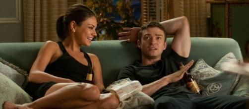 Cena do filme 'Amizade Colorida' com Mila Kunis e Justin Timberlake