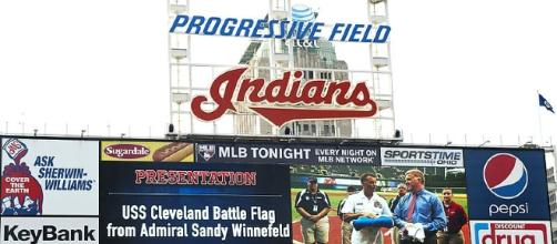 Progressive Field, home of the Cleveland Indians (public domain photo by US Army Staff Sergeant Sun L. Vega)