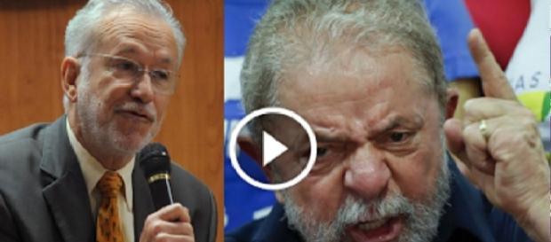 Alexandre Garcia e Lula - Foto/Montagem