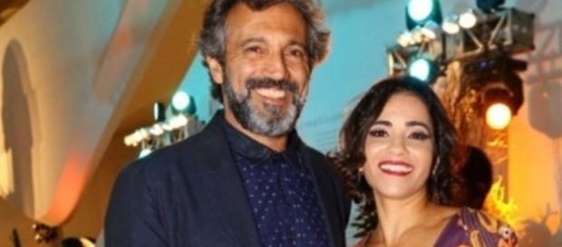 Domingos Montagner e esposa - Foto/Montagem