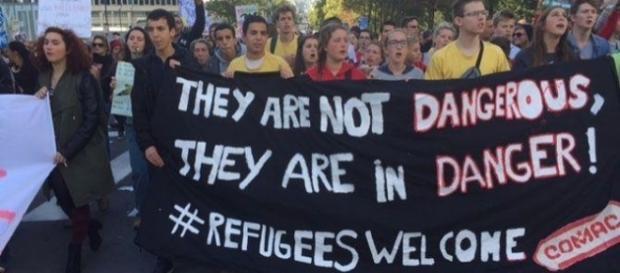 Refugees-Welcome Marsch in Brüssel
