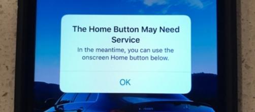 Apple iPhone 7: tasto Home non funzionante