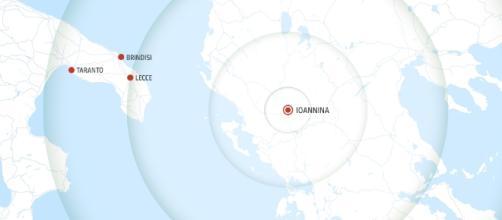 Ioannina è l'epicentro del violento sciame sismico che ha interessato Grecia e Puglia.